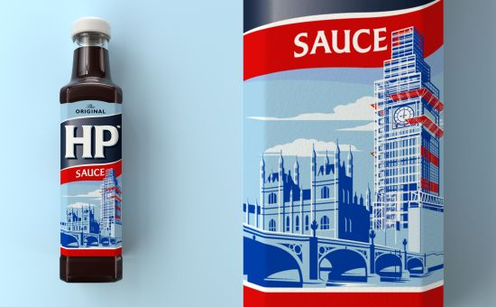 Iconic HP Sauce Logo Gets a Cheeky Redesign