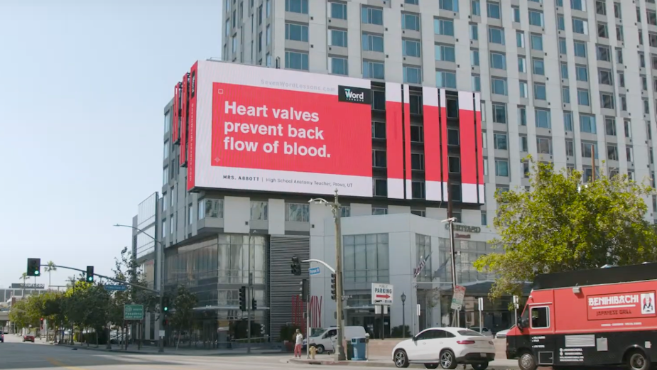 Seven Word Billboard Lessons Educate Students While Classrooms are Closed