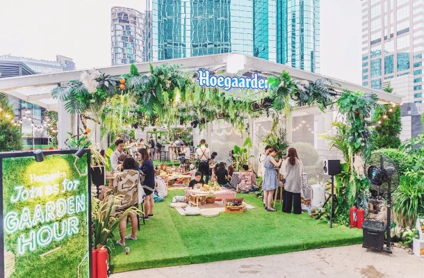 Hoegaarden Green House Provides Solace from Stress and Shanghai's Sweltering Heat