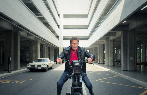 David Hasselhoff Swaps KITT for Two Wheels to Become 'Moped Rider'
