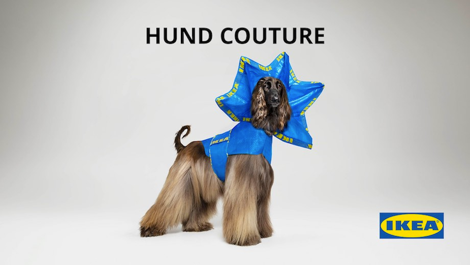 IKEA Launches Haute Couture Outfits for Dogs Made from Their Iconic Bags