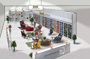 IKEA and the Man Booker Prize Create Reading Rooms for Relaxation