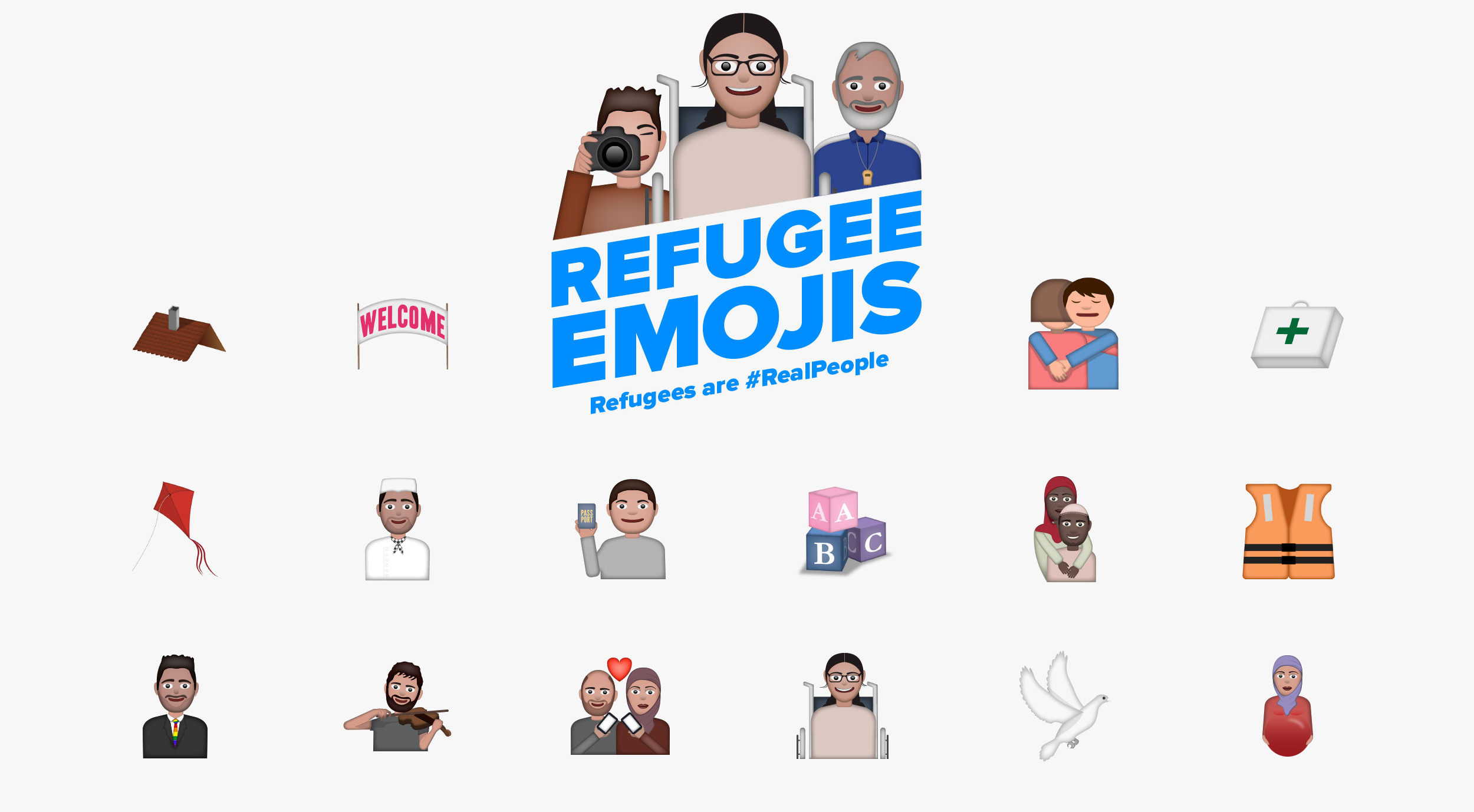 USA for UNHCR and SuperHeroes NY Launch Emoji Campaign to Change the Way We Look at Refugees