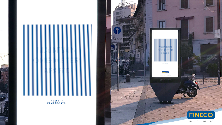 Social Distancing Billboard Reminds Italians to Stay One Metre Apart and Invest in Safety