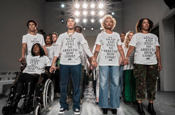 Justice4Grenfell Activists Make a Stand at London Fashion Week