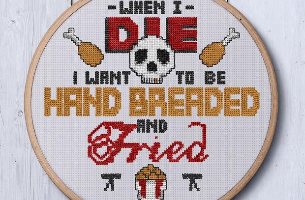 KFC's Sassy Cross Stitch Patterns Are Finger Stitchin' Good