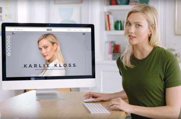 Karlie Kloss Demonstrates Wix's Website-Building Features in Super Bowl Spot