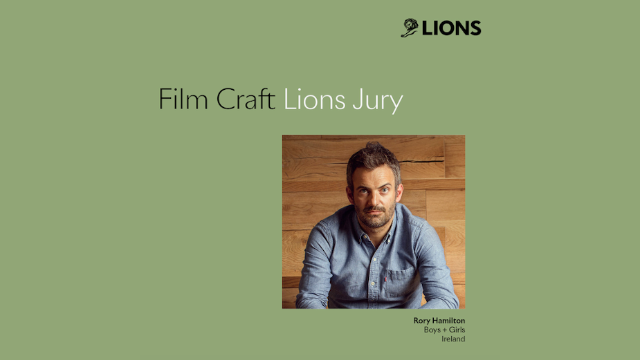 Boys+Girls' Rory Hamilton Announced on Film Craft Jury for Cannes Lions