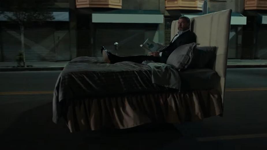 Liev Schreiber Warns Americans of 'Junk Sleep' in Trippy Mattress Firm Spots