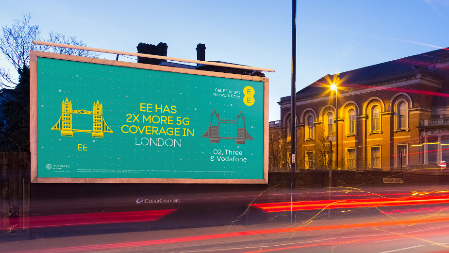 EE Regional OOH Spots Playfully Pits its Network Against Competitors