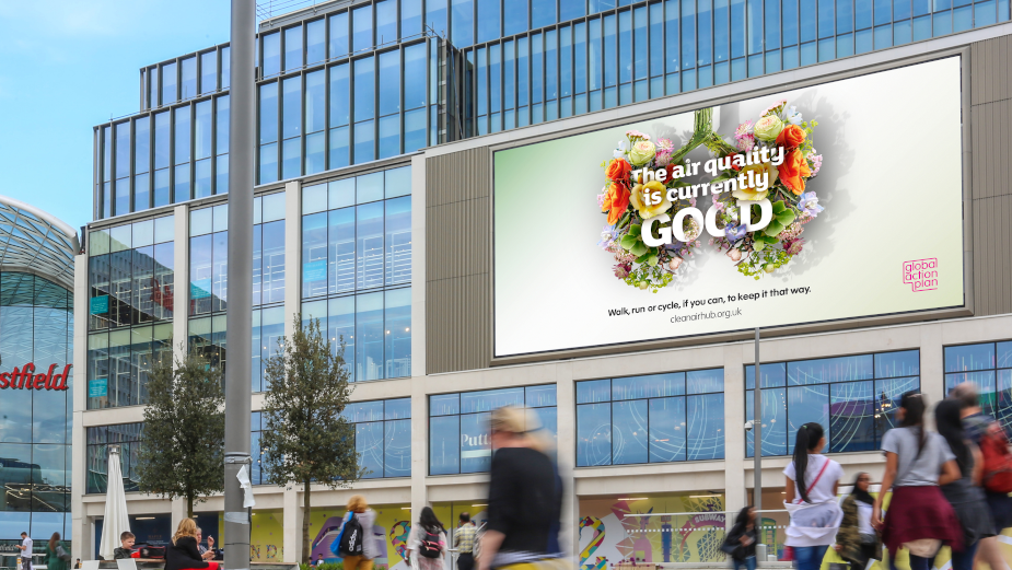 Global Action Plan's Real-Time 'Breathable Billboard' Urges Us Not to Let Air Pollution Go Back to 'Normal'