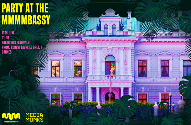 Cannes Lions 2019: MassiveMusic and MediaMonks Present 'MMMMbassy'