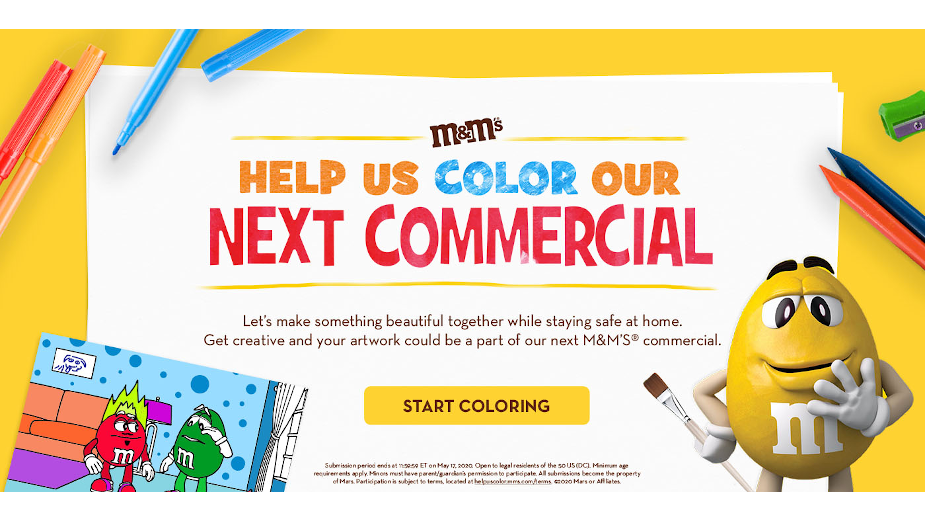 M&M's Encourages People at Home to Colour Their Way to TV