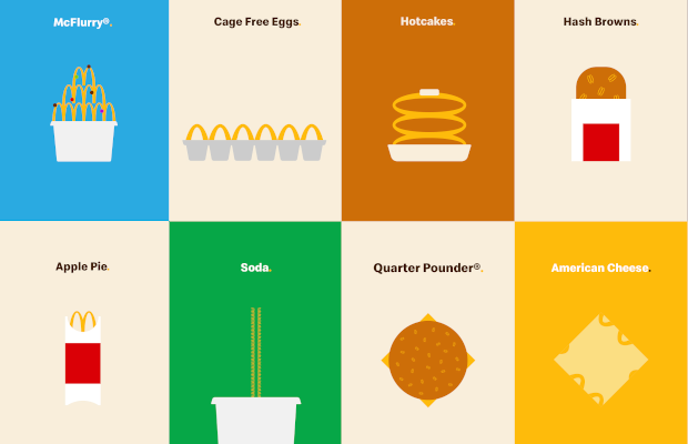 McDonald's Menu Takes on Iconic Golden Arches for Compelling Visual Campaign