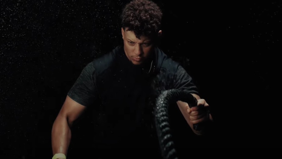 Capturing Patrick Mahomes' Intensity for a Fitness Tech Ad