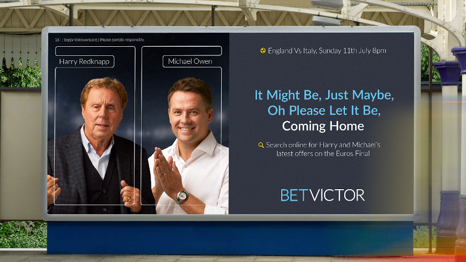 Michael Owen and Harry Redknapp Get Behind England Team Ahead of Euros Final in Reactive BetVictor Ad