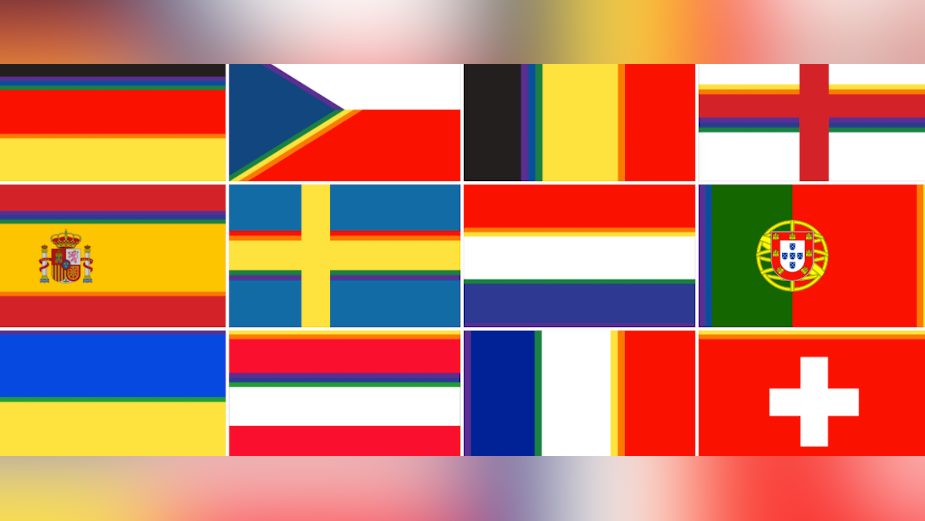 Visit Brussels and FamousGrey Give Football Flags Extra Colour