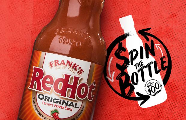 Frank's Hot Sauce Host Live Spin the Bottle for Super Bowl Sunday