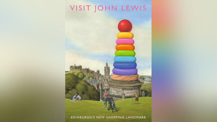 Artist and Illustrator Marc Burckhardt Reimagines Edinburgh Landmarks for Quirky John Lewis Prints