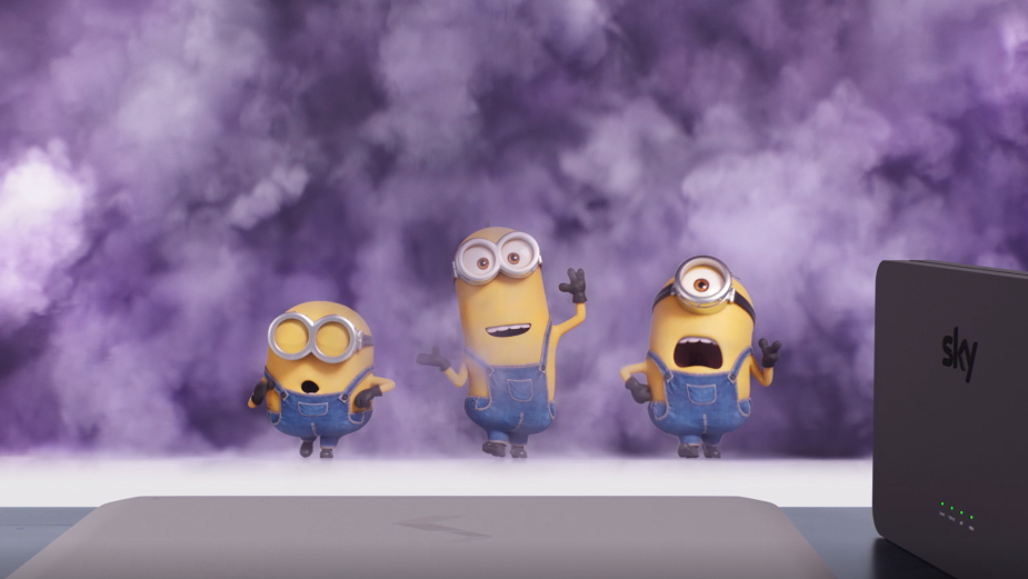 Minions Cling onto the Edge from the Power of Sky Broadband's Ultrafast Plus