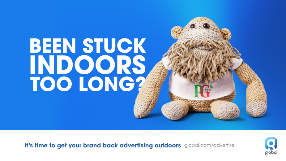 Mr. President Gives the PG Tips Monkey Lockdown Hair to get Brands Advertising Outdoors