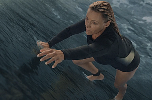 Surf World Champion Lisa Anderson Scales an Epic Frozen Wave for No7's 'Ready' Campaign