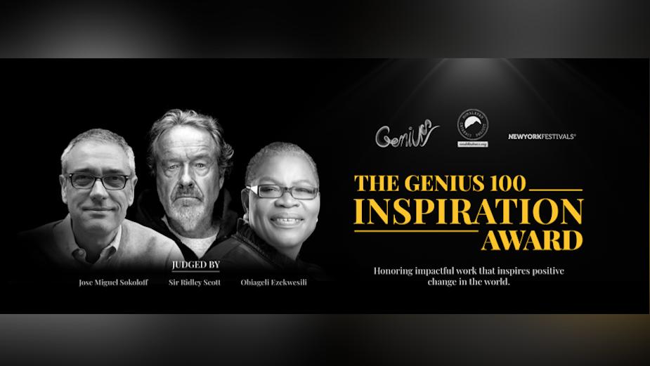 New York Festivals 2021 Advertising Awards and Genius 100 Foundation Launch Genius 100 Inspiration Award