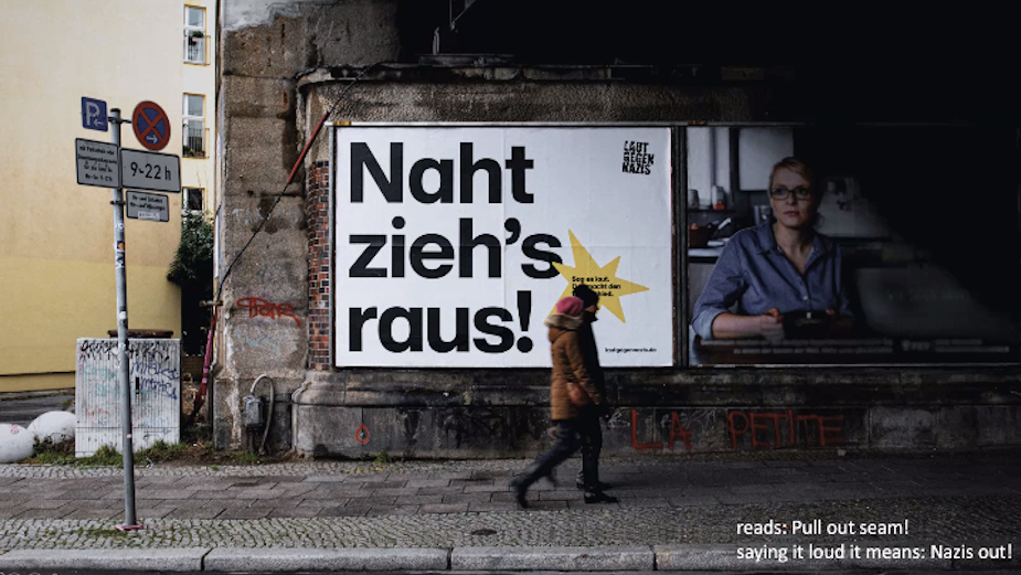 Laut Gegen Nazis and Serviceplan Campaign Unite to Speak Out AgainstFar Right Extremism