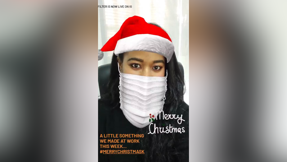 OLIVER's Instagram Filter Wishes Clients and Staff a Merry Christmask