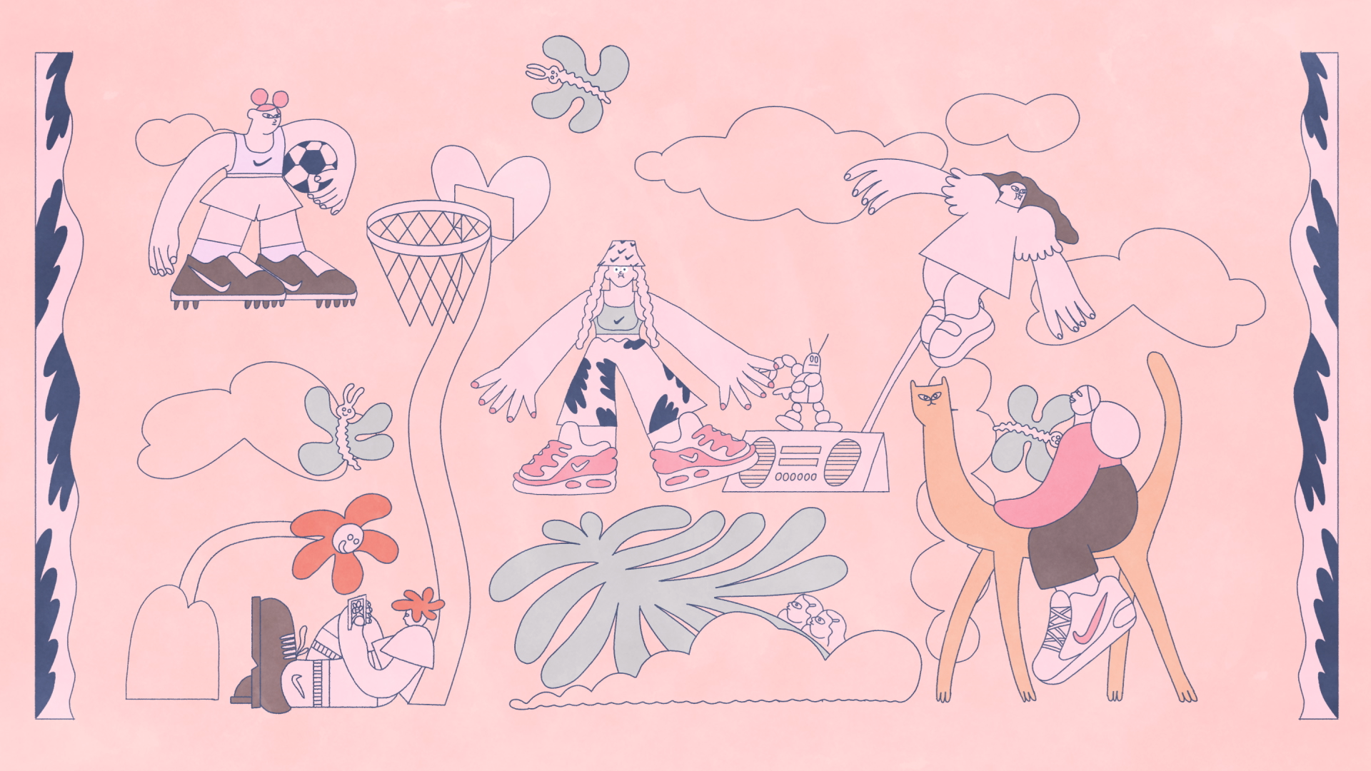 Sophie Koko Gate Creates Fantastical Animated Short for Nike Portland