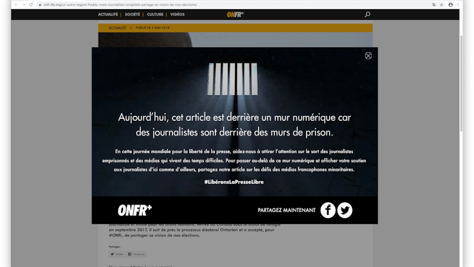 ONFR+ Imprisons Its Own Articles for World Press Freedom Day