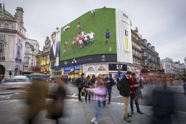 Hugo Boss and Ocean Outdoor Bring Rugby World Cup to The Streets