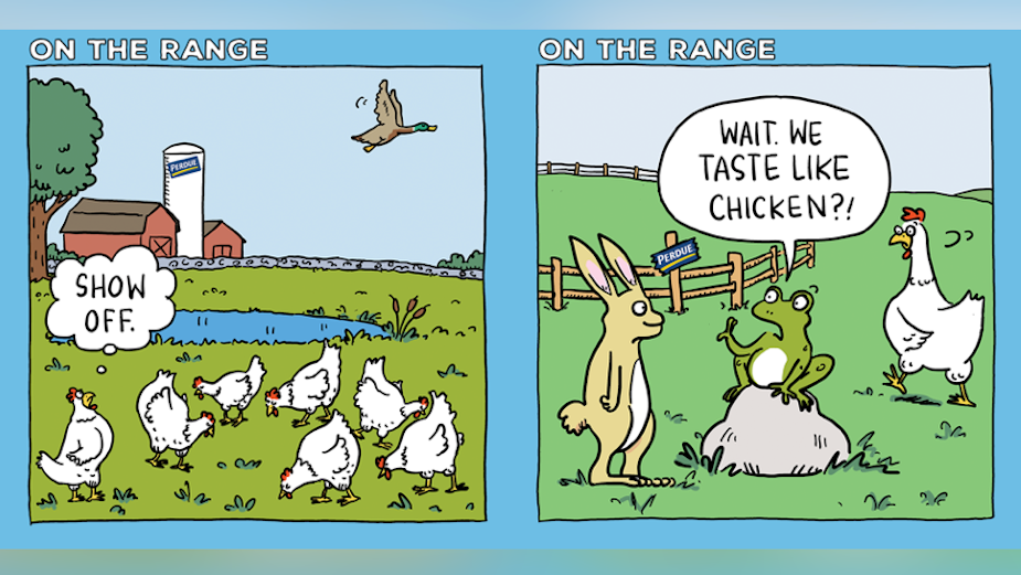 Perdue Showcases Rich and Interesting Lives of Its Chickens with Tongue-in-Cheek Digital Cartoon | LBBOnline