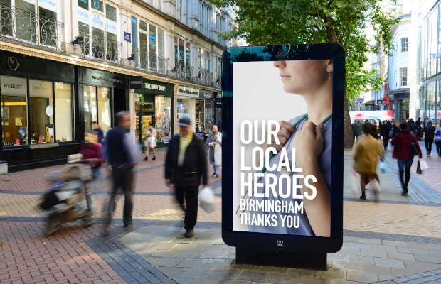 Ocean Outdoor Digital Boards Celebrate Coronavirus Frontline Heroes