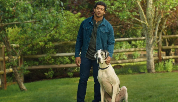 NFL's Russel Wilson Stars in Campaign on Domestic Violence and Pet Safety