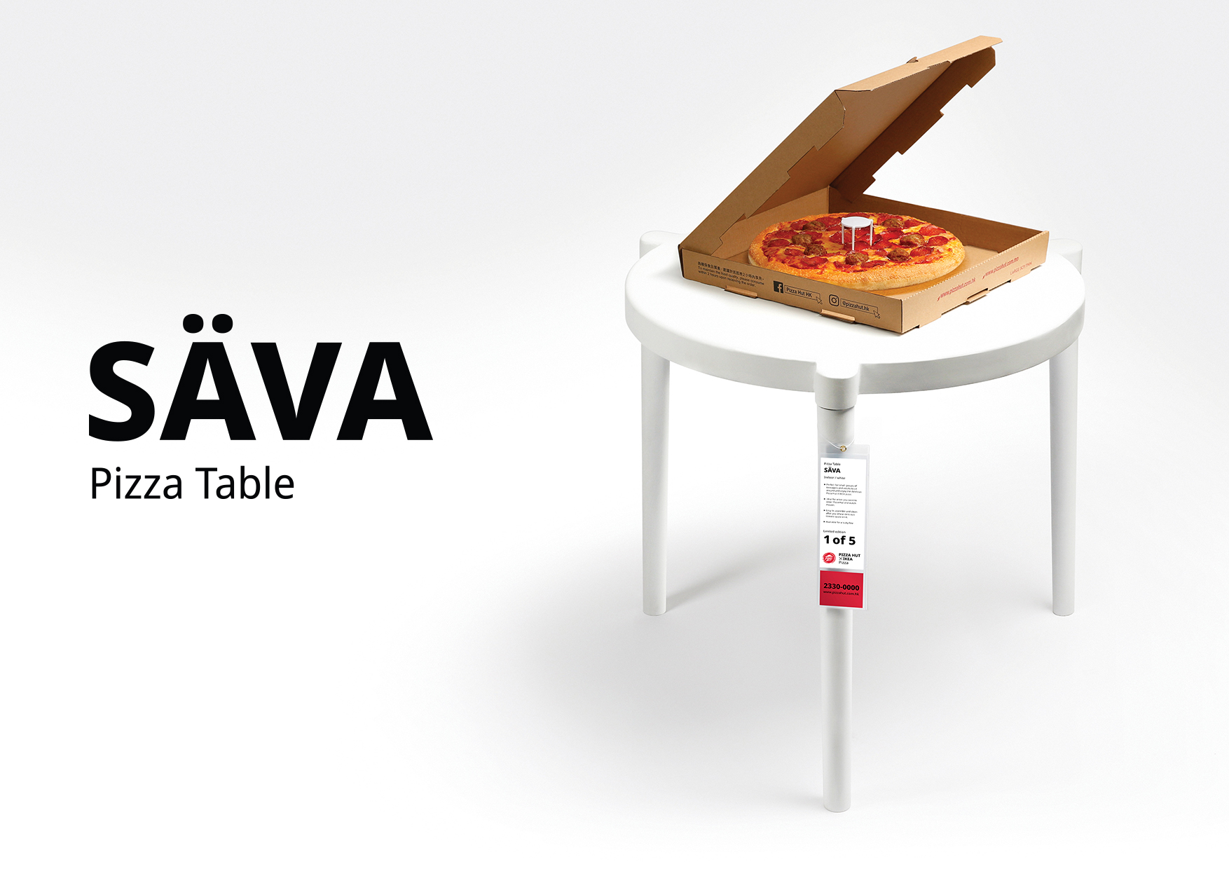 IKEA and Pizza Hut Hong Kong Collab on Swedish Meatball Pizza
