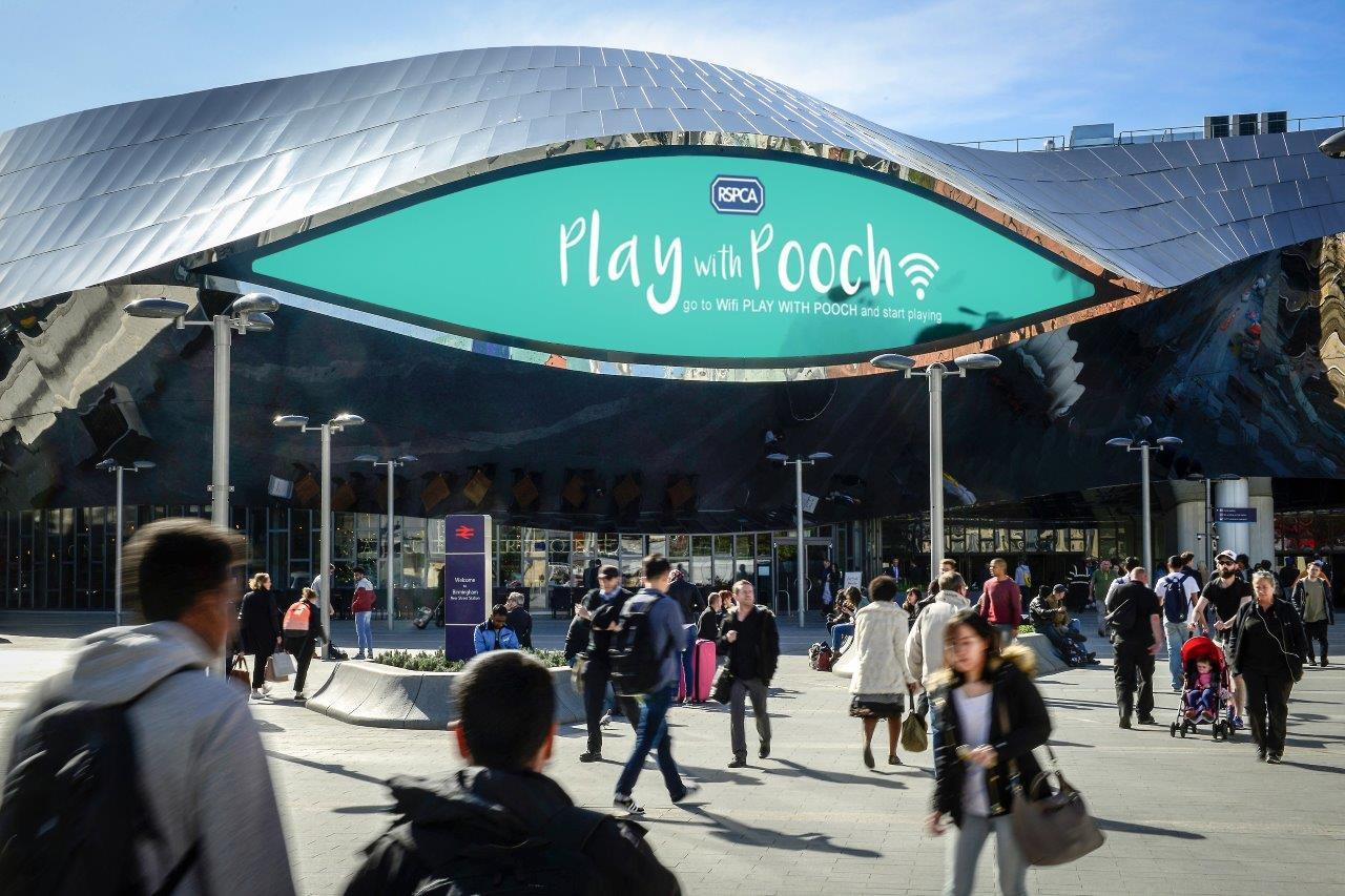 'Play With Pooch' in RSPCA's First Interactive DOOH