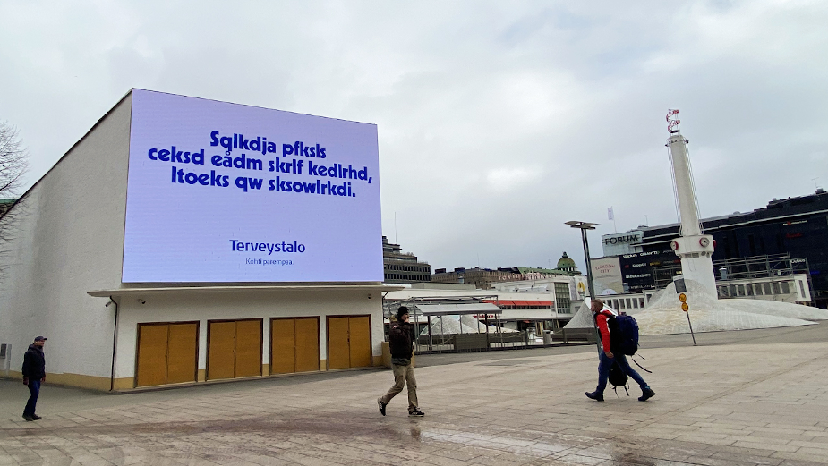 World Vision's Unreadable Advertising Takes Over Finland to Highlight What Illiteracy Feels Like
