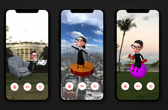 Keep Ruth Bader Ginsberg Strong with this Amusing, but Important AR Experience