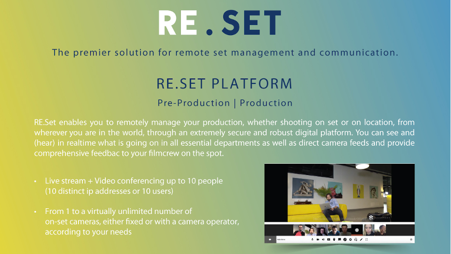 It's Time to RE.SET with the Premier Solution for Remote Set Management and Communication