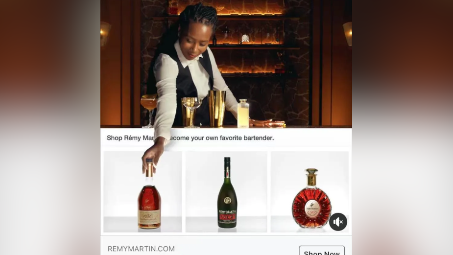 FRED & FARID New York Hijack Facebook and Instagram Shoppable Ads for Rémy Martin