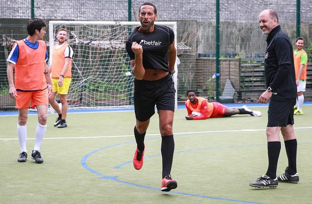 Football Legends Surprise Amateur London Team in Five-a-Side Match