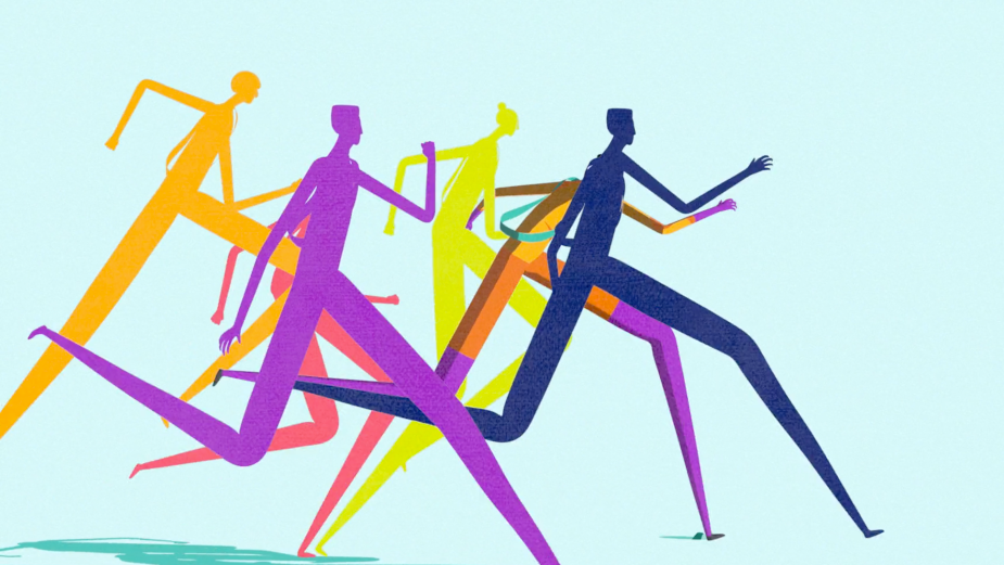 Blue Zoo Crafts Stylish Abstract Film for ASICS Ekiden Challenge