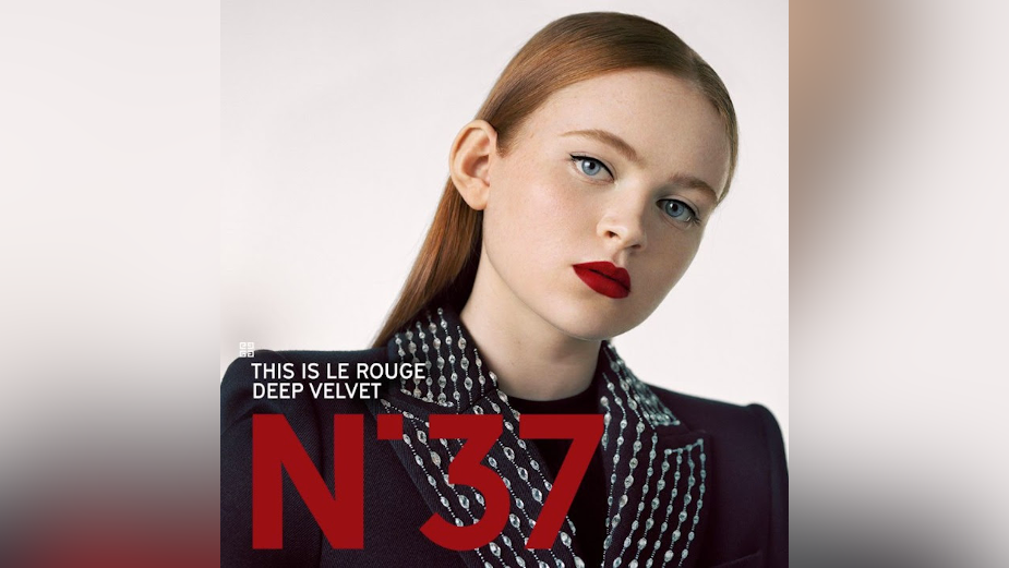 Stranger Things Star Sadie Sink Embodies Le Rouge for Givenchy Beauté