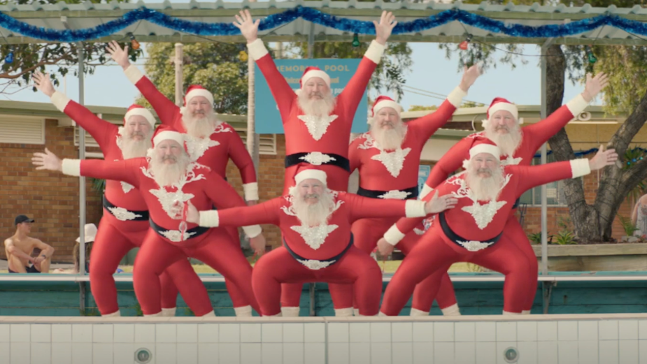 Santa Dons a Leotard and Goes Full Christmas in ALDI Australia Campaign