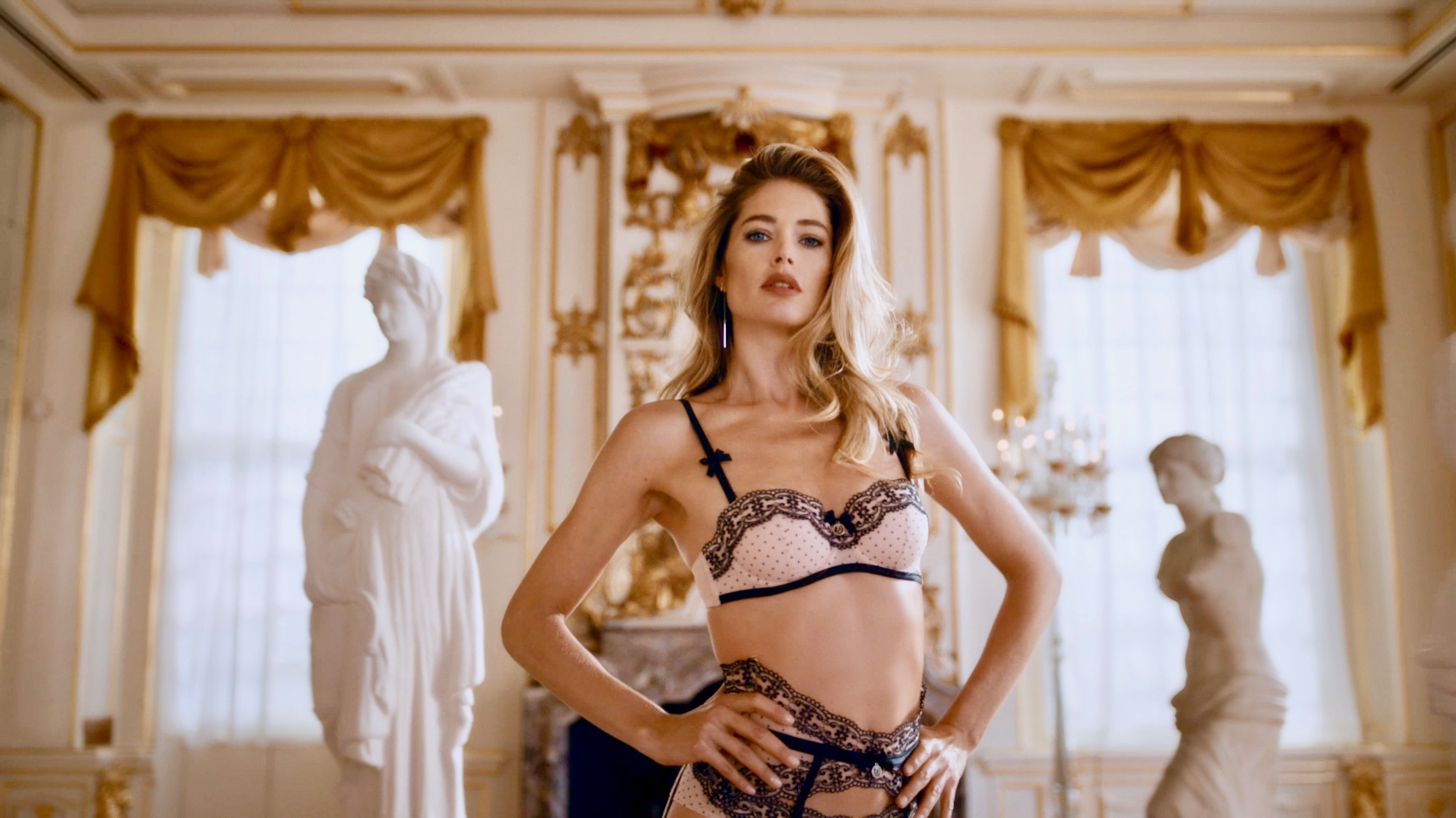 Doutzen Kroes Dances Through Nina Aaldering's Steamy Ad for Hunkemöller