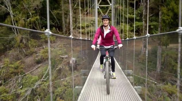 Megan Gale Promotes the New Zealand Cycle Trail in New Campaign via Whybin\TBWA Sydney