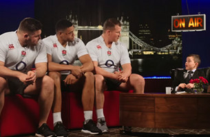 Mascot Harry Westlake Grills England Rugby Stars in New O2 Film