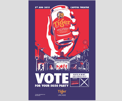 Tiger Beer Makes Big Election Promises For Singapore's 50th Year of Independence