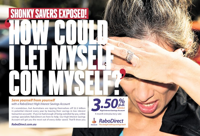 Shonky Savers Exposed in New RaboDirect Campaign from Whybin\TBWA Group Sydney